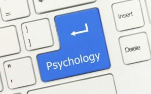 White conceptual keyboard - Psychology (blue key)