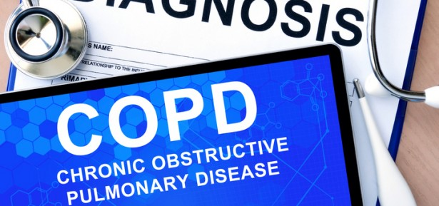 tablet with Chronic obstructive pulmonary disease (COPD)