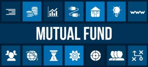 Mutual fund concept image with business icons and copyspace.