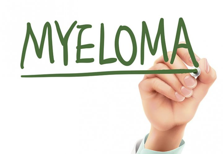 doctor writing myeloma word