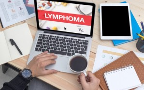LYMPHOMA CONCEPT ON LAPTOP SCREEN